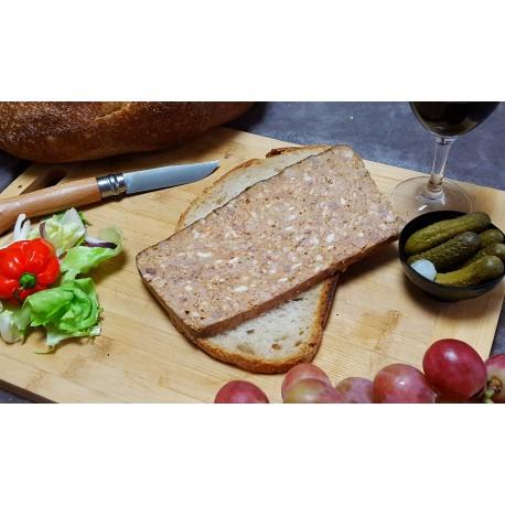 Pâté au Piment d'Espelette - Barquette de 1 tranche 180 gr