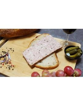 Pâté de Canard au Poivre Vert - Barquette de 1 tranche 180 gr