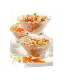 Salade coleslaw duo de choux et carottes Barquette de 2.5 kg
